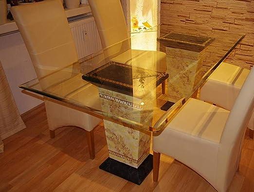 Mesa de comedor mesa mesa de cocina o mármol piedra griego clave ...