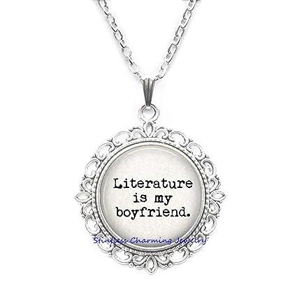 Amazon com : stintless charming Jewelry Literature is My Boyfriend