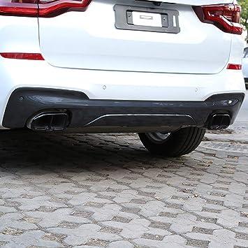 Diyucar Zubehör Für Die Auspuffendrohr Verkleidung 2 Stück Glänzend Schwarz 304er Edelstahl Auto