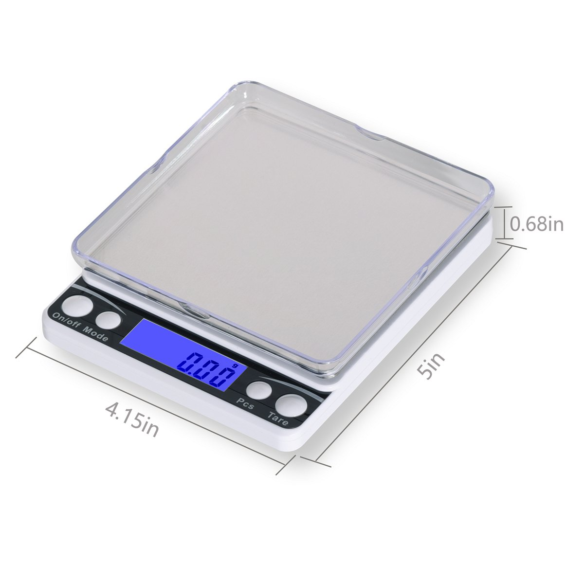 Amazon.com: Xornis 500g x 0.01g Digital Pocket Scales Portable High Precision Jewelry Food Coffee Tea Kitchen Scale with Stainless Steel Platform, ...