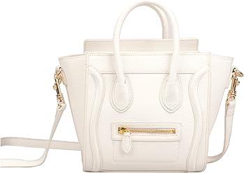 9886f4e15d Ainifeel Women s Smile Genuine Leather Small Crossbody Bag Messenger Bag