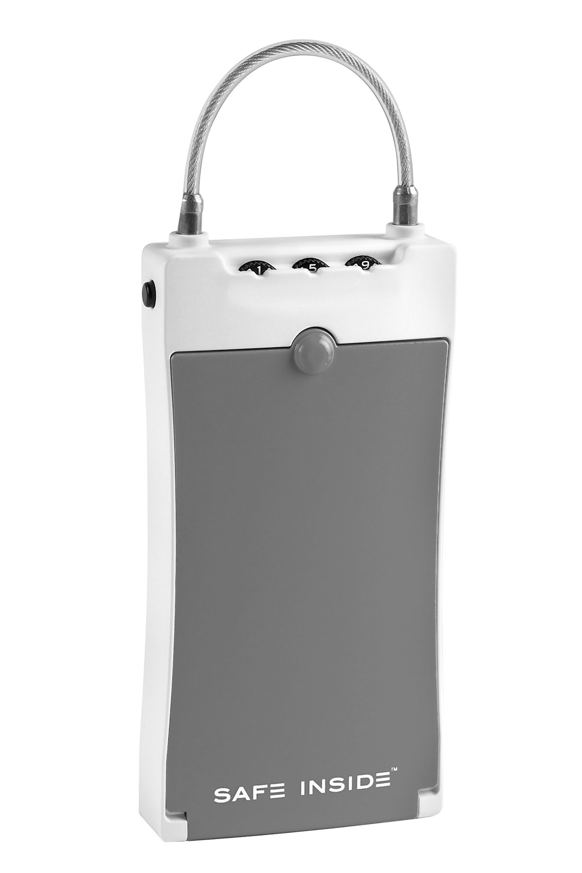 SafeInside Portable Security Case for Securing Small Items, Grey