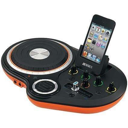 Jensen JDJ-500 DJ Scratch Mixer (Orange)