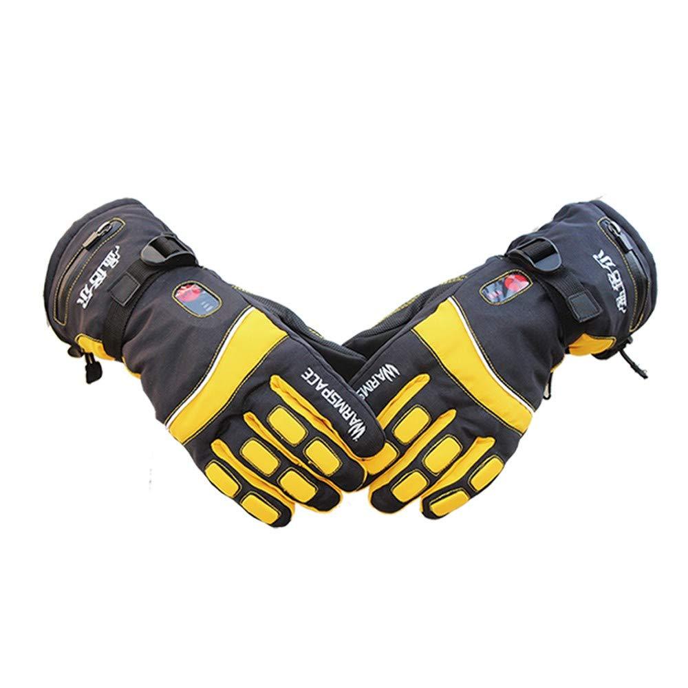 Beheizte Handschuhe Mit Wiederaufladbare Lithium-Ionen-Batterie Beheizt Für Männer Und Frauen, Warme Handschuhe Für Das Radfahren, Motorrad, Wandern Skitouren, Arbeitet Bis Zu 3-6 Stunden,XL