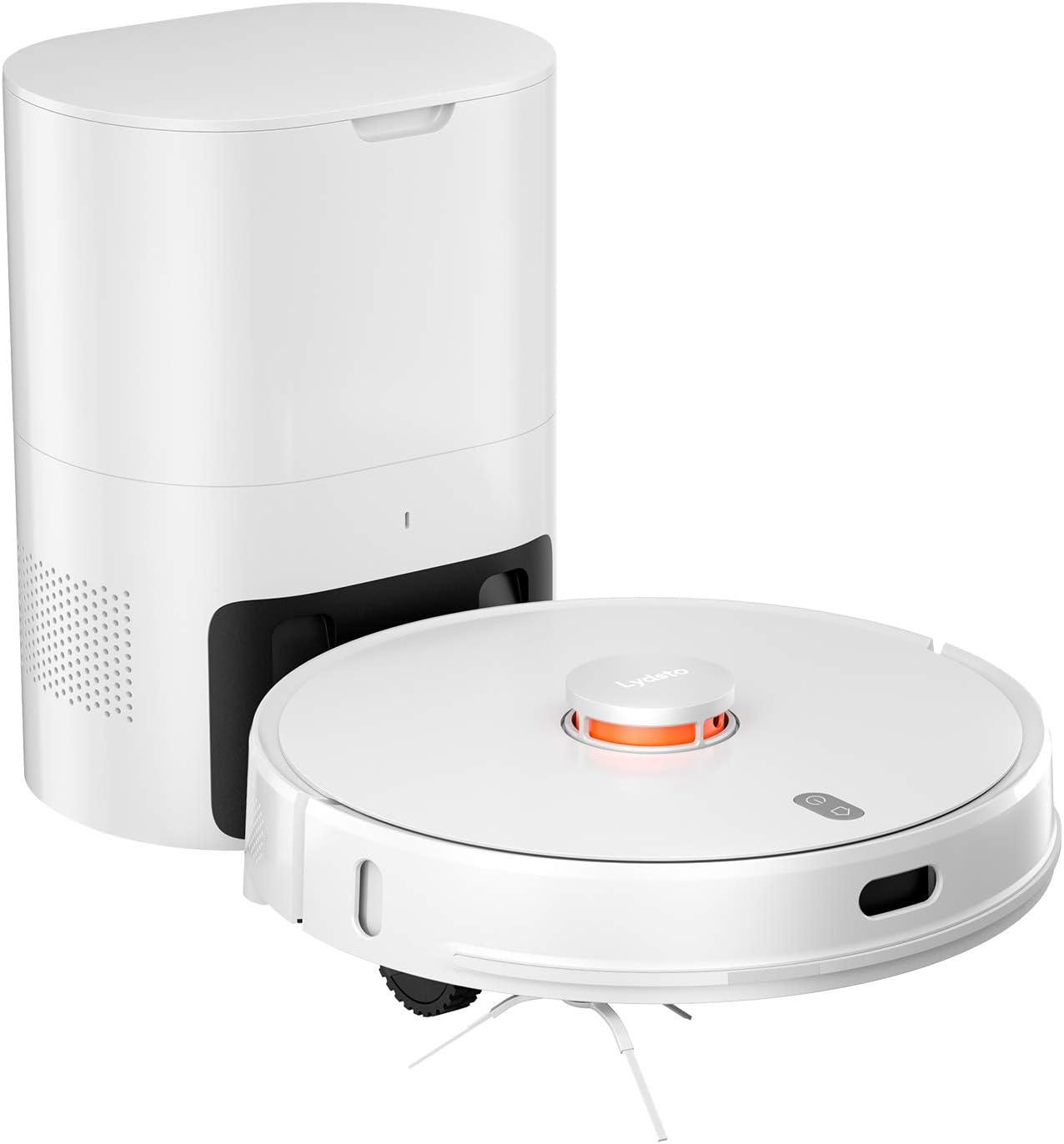 Lydsto R1 Aspiradora Robot, Que Incluye Bolsas para el Polvo, Barrido y Cepillado Combinados, recolección de Polvo Completamente Cerrada, bajo Nivel de Ruido, Manos Libres