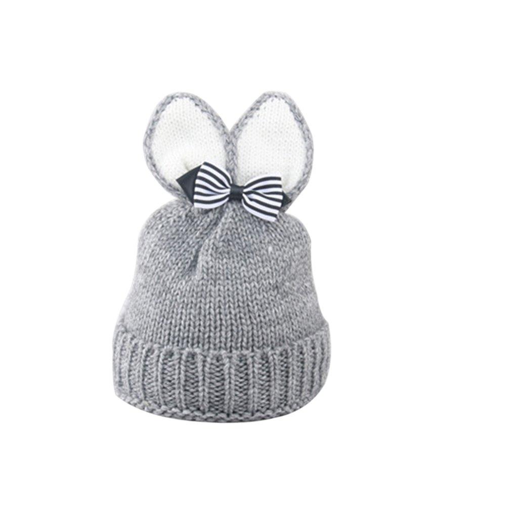 beiguoxia Cappello di beanie del Bowknot dell'orecchio del coniglio del neonato di inverno W181951247W15771