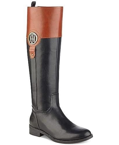 91b0e4f4d58 TOMMY HILFIGER Womens Ilia-2 Almond Toe Knee High Fashion