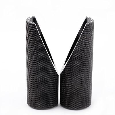 KKmoon 2Pcs Aluminum Foot Peg Foot Gear Pedals for Honda Ruckus Zoomer - Black: Automotive
