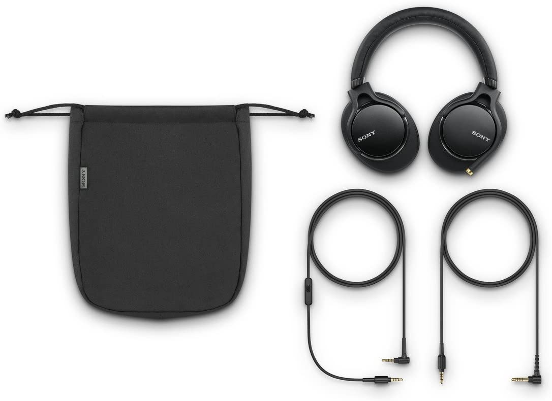 Sony MDR1AM2 Wired High Resolution Audio Overhead Headphones, Black (MDR-1AM2/B)