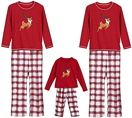 US Adults Kids Family Matching Christmas Pajamas Sets Xmas Sleepwear Nightwear