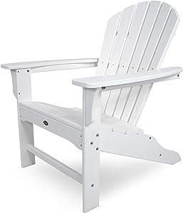 Trex Outdoor Furniture Cape Cod Adirondack Chair, Classic White