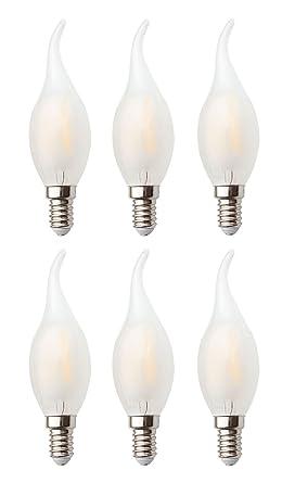 6-Pack regulable AC 110 – 130 V, E14 LED filamento Vintage bombilla,