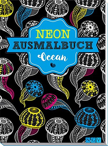 Ocean Neon-Ausmalbuch