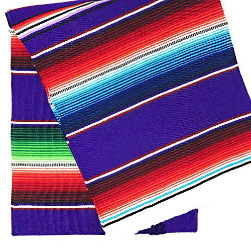 TRLYC Fiesta Themed Party Mexican Blanket DIY Decoration Partycity Baby Shower Birthday Serape Tablecloth 57x102 Inch,145cmx260cm]()