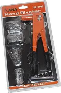 Plier Riveters orange with 4 sizes rivets