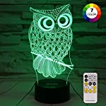 ZOKEA Night Light for Kids 3D Night Light 7 Colors Changing Bedroom Nightlight with Smart Touch & Remote Control Bedside Lamp for Kids Room Decor Or as Birthday Gifts for Kids Girls Boys