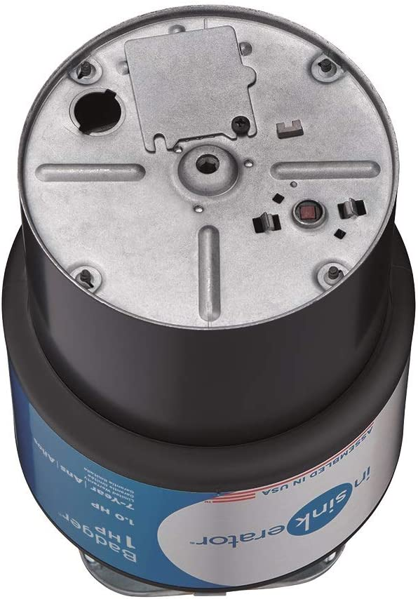 InSinkErator Garbage Disposal, Badger 1 HP Continuous Feed, Black - -