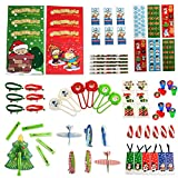 Toys : Christmas Toys Party Favors Mega Assorted Stocking Stuffers, Holiday Toys and Activities, Christmas Coloring Books, Tattoos, Jingle Bell Bracelets and More 72 Mega Christmas Toy Assortment By Neliblu