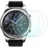 Awinner Glass for Samsung Gear S3, Premium Glass Film 0.2mm Real Tempered Screen Protector for Samsung Gear S3 (9H) (3-Pack)