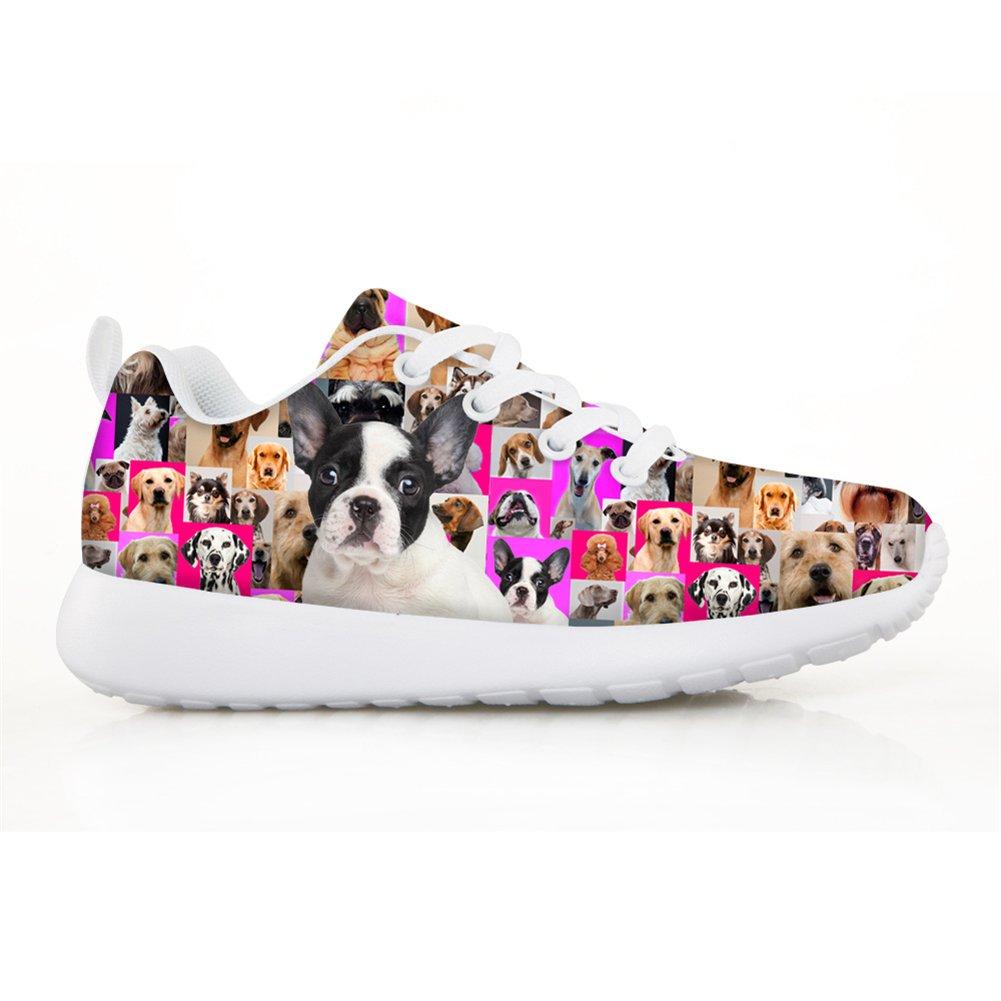 HUGS IDEA HUGSIDEA Pet Dog Print Kids Mesh Breathable Sneaker Fashion Running Shoes For Girls by HUGS IDEA (Image #2)