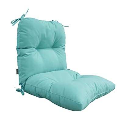 BOSSIMA Outdoor Indoor High Back Chair Tufted Cushions Comfort Replacement Patio Seating Cushions Light Blue : Garden & Outdoor