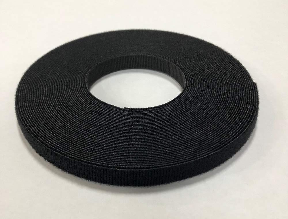 VELCRO 1801-OW-PB/B Black Nylon Onewrap Velcro Strap, Hook and Loop, 1/2'' Wide, 50' Length by Velcro