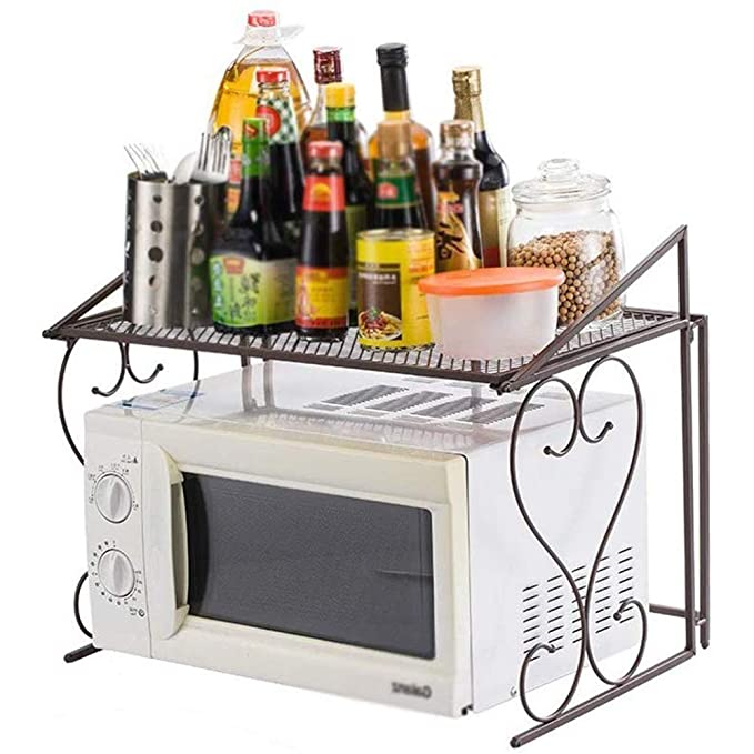 Metales Horno de microondas Rack/estanterías estantes de la cocina ...