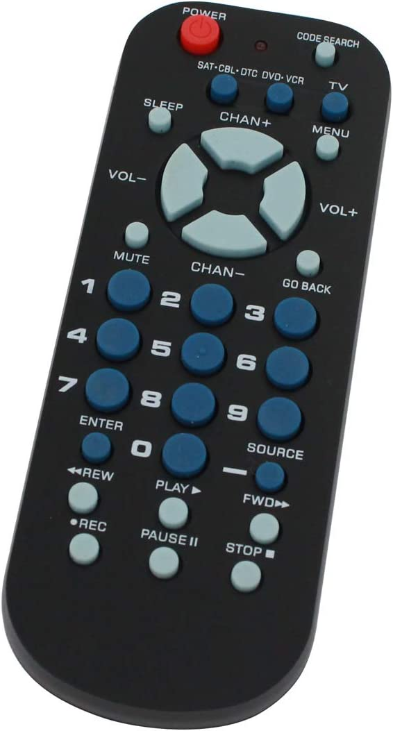 Replacement for RCA 3-Device Universal Remote Control Palm Sized - Works with GE Digital TV Converter Box - Remote Code 2360, 2450