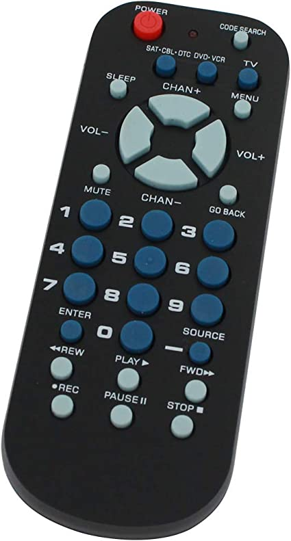 Repuesto para Mando a Distancia Universal RCA de 3 Dispositivos, tamaño de Palma – Funciona con Receptor satélite Voom – Código Remoto 0869: Amazon.es: Electrónica