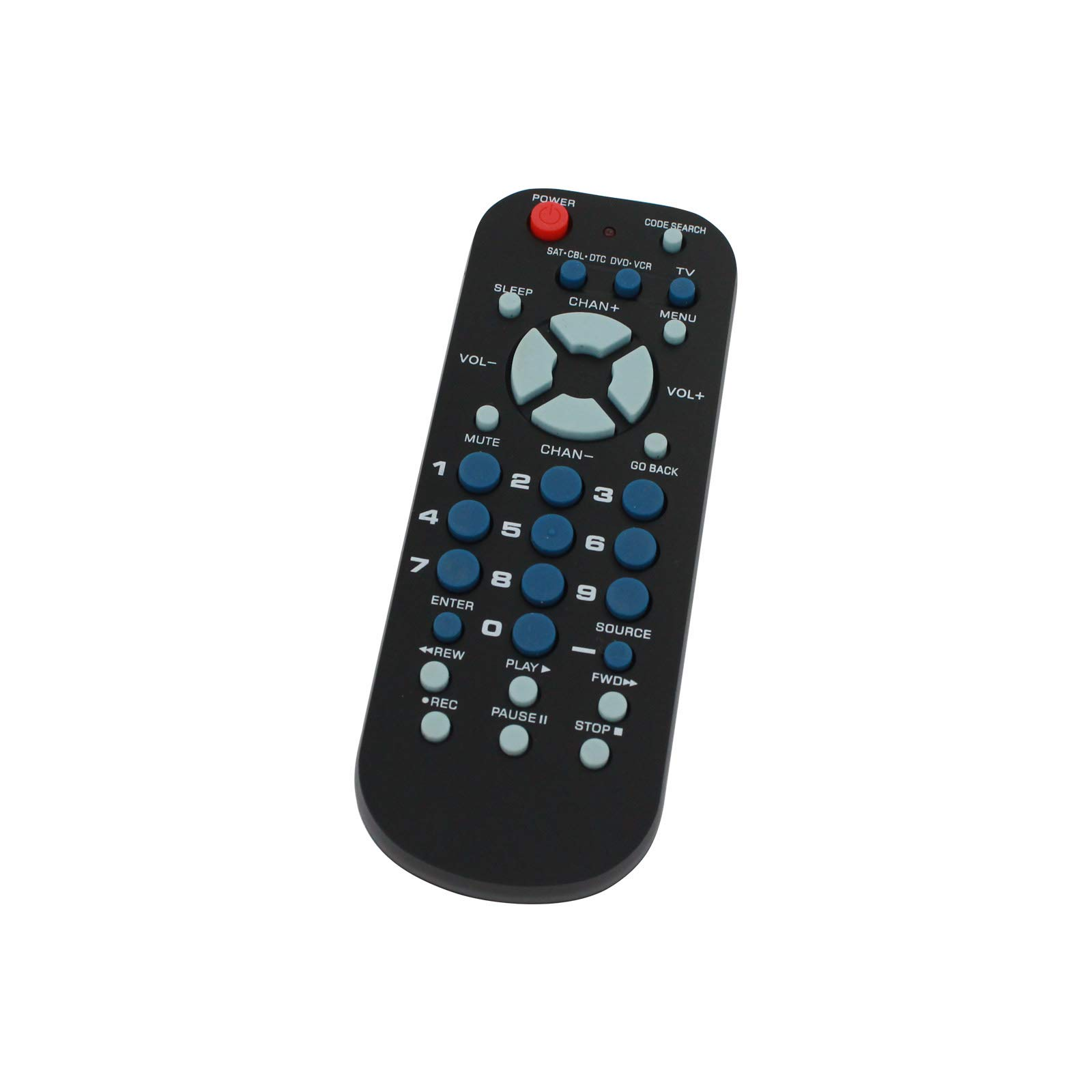Replacement for RCA RCR503BZ 3-Device Universal Remote Control- Works with Samsung, LG, Vizio, Sony, Insignia, Hisense, Element, Sharp, Sceptre, Toshiba, Westinghouse, RCA, Philips, Panasonic TVs
