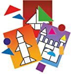 Brinquedo Pedagógico Madeira Tangram 62 Peças Brincadeira de Criança