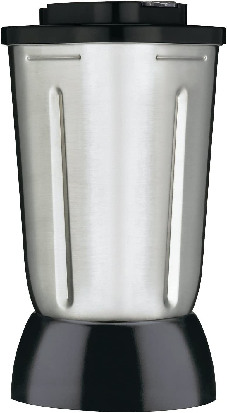 Waring Commercial Complete Stainless Steel Container with Blade/Collar and Lid, 32-Ounce