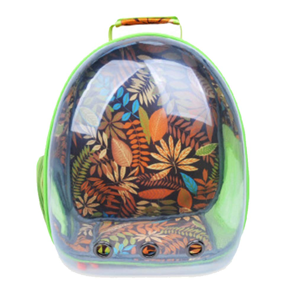Green Pet Carrier Backpack,Space Capsule Bubble Transparent Backpack for Cats and Puppies,Airline-Approved, Designed for Walking & Outdoor Use