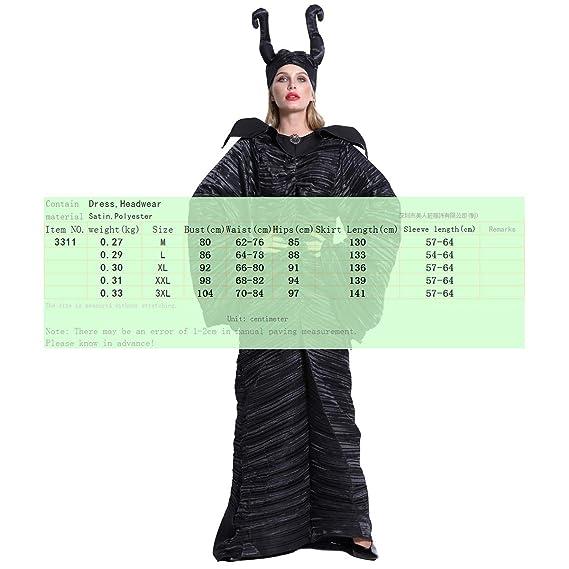 Costume Halloween Maleficent Witch Vestido Fiesta de Cosplay ...