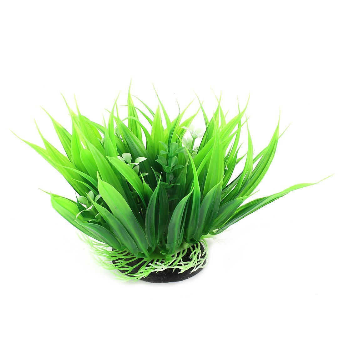 1Pc Aquarium Artificial Water Grass Plant Decor 11cm High Green White