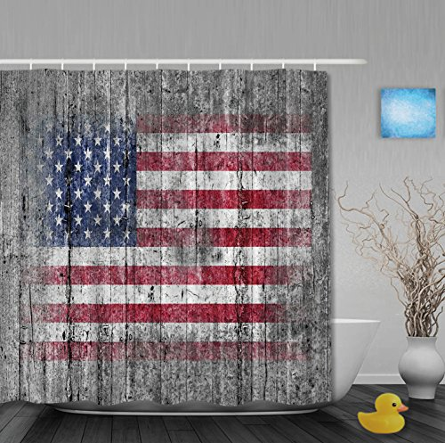 Oil Painting Patriot Classical Home Decor UK Flag On Old Wooden Classical Bathroom Shower Curtains Waterproof Mildew Ployster Fabric -