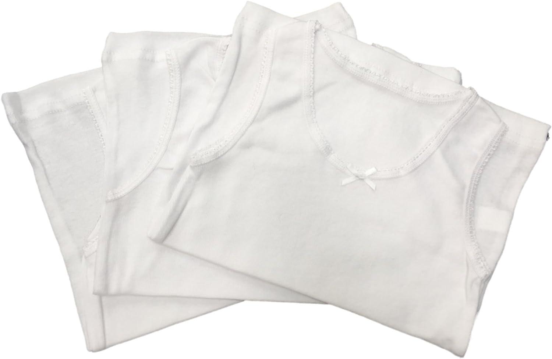 **Zur/ück in die Schule** 6 St/ück M/ädchen 100/% Baumwolle warme Unterhemden//erh/ältlich in 1 bis 13 Jahre