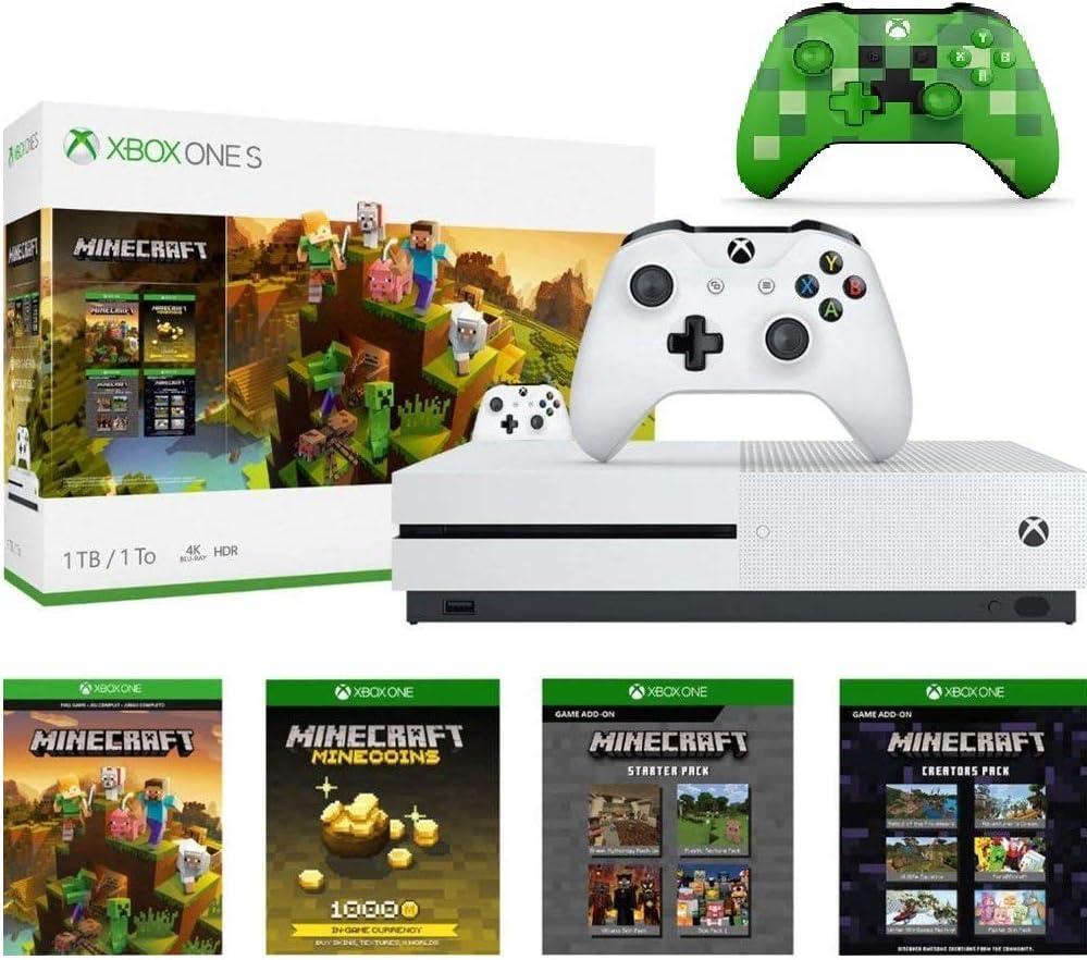 Microsoft Xbox One S 1 TB Minecraft Creators Bundle con Minecraft ...