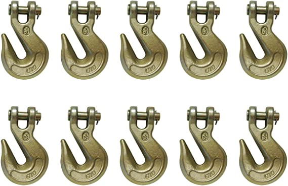 Mega Cargo Control 2-Pack 1//2 G70 Tow Chain Clevis Grab Hook WLL 11300 LBS for Trailer Truck Transport Grade-70