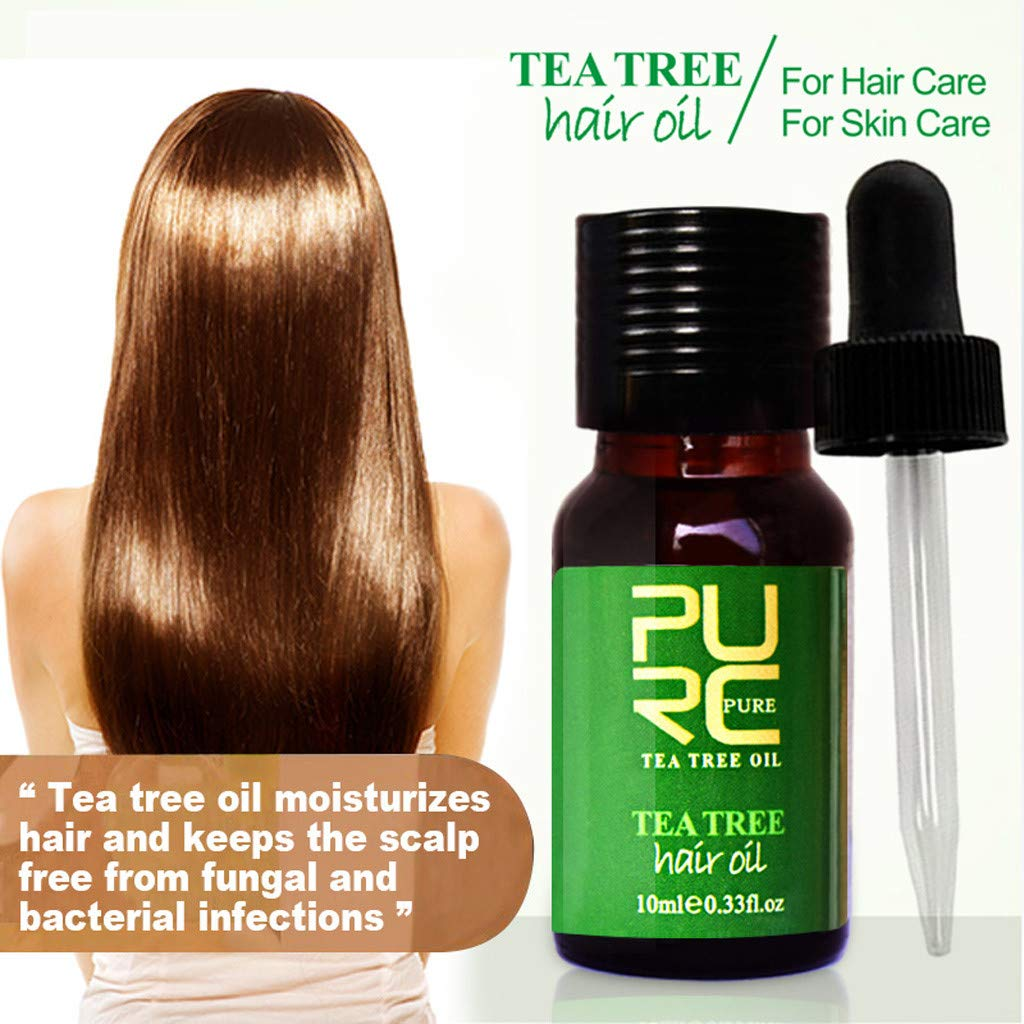 YOYORI Pure Hair Care Oil - All Natural Tea Tree Essential Oil - Premium Quality Moisturizes and Protects Dry And Damaged Hair, Skin, Eyelashes (1 pc)