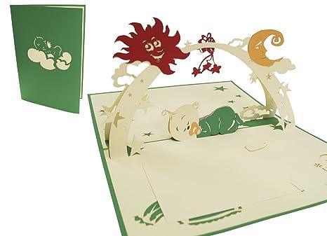 Amazon.com: LIN Pop Up – Tarjeta de felicitación 3d ...