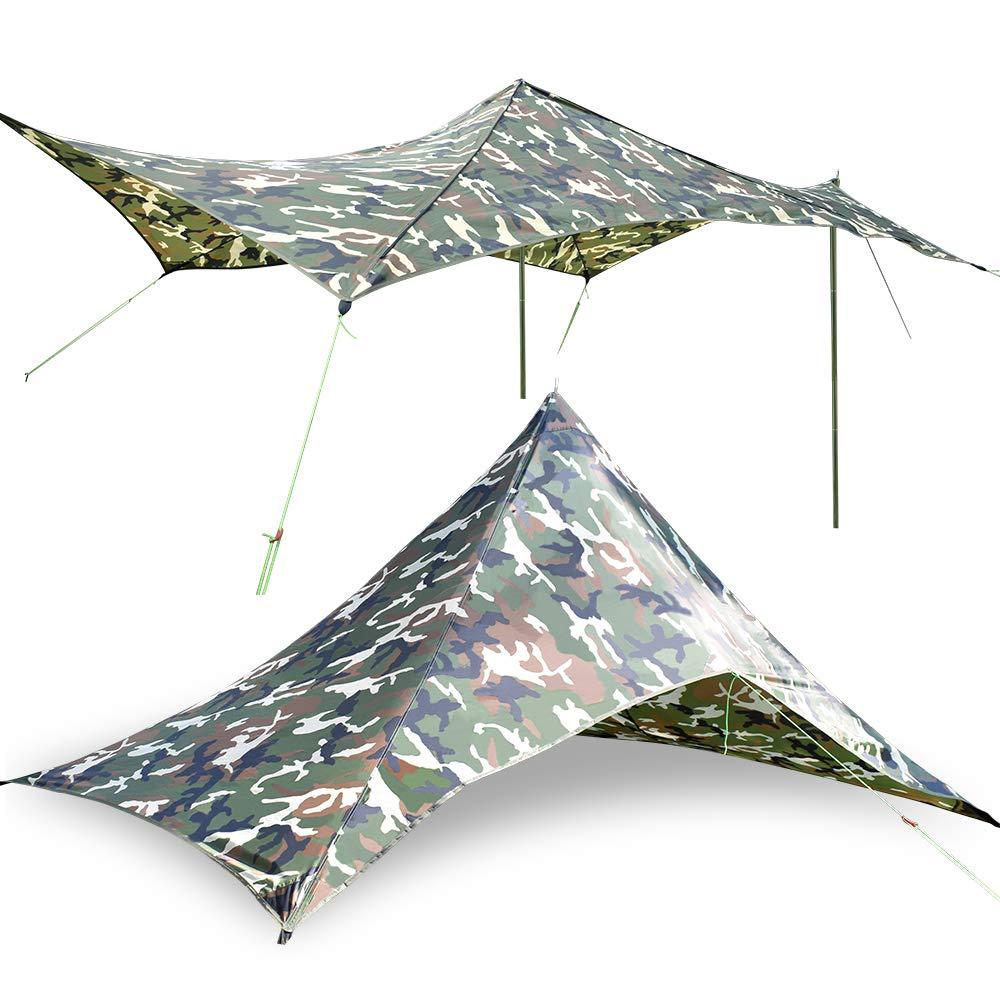 GEERTOP 2-4 Personas Lonas Large Impermeable Rain Fly Sun Shelter Tent Tarp para Acampar Beach Hiking: Amazon.es: Deportes y aire libre