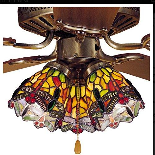 Meyda Tiffany 27473 Hanging Head Dragonfly Fan Light Shade, 4