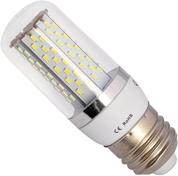 ELINKUME Bombilla Lampara Luz Blanco frío E27 8W 120 LED 3014 SMD ...