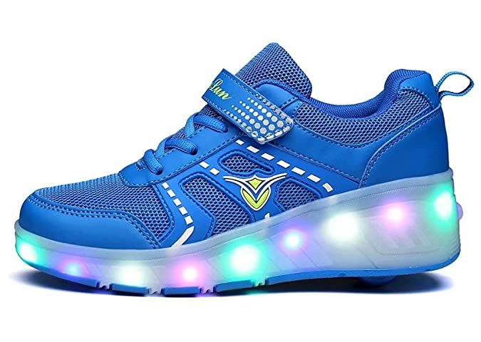 Unisex Led Luz Automática de Skate Zapatillas con Ruedas Los Zapatos con Ruedas LED para Patines de Ruedas iluminan los Entrenadores con Ruedas Zapatillas ...