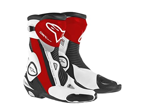 Alpinestars Stivali SMX PLUS rosse 43 bianco: Amazon.it
