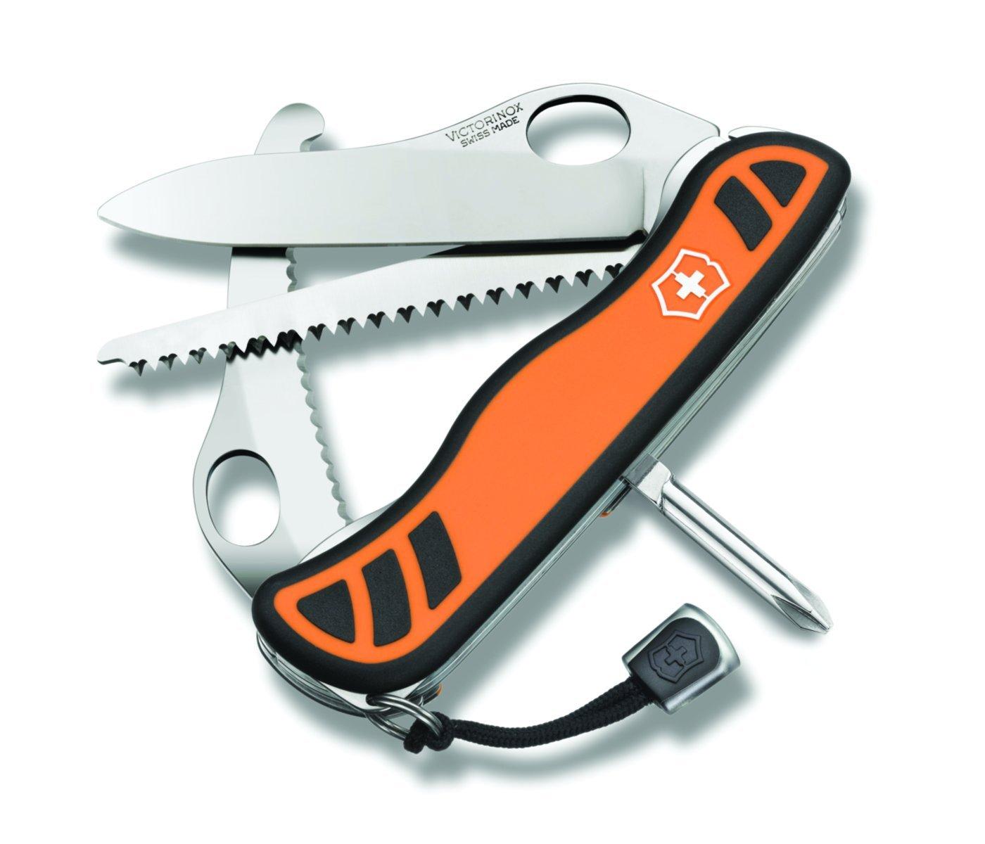 Victorinox Swiss Army Hunter XT Knife with Pouch, 111mm, Orange