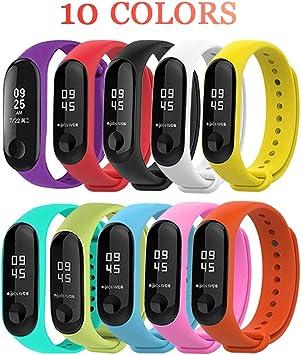 BRone Correa para Xiaomi Mi Band 3, Pulsera Xiaomi Mi Band 3 4 Correas Reloj Silicona Banda para XIAOMI Mi Band 3/Mi Smart Band 4 【Compatible con Mi Smart Band 4】: Amazon.es: