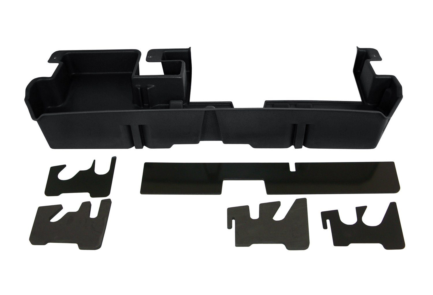 DU-HA Under Seat Storage Fits 07-17 Toyota Tundra Double Cab with Subwoofer, Black, Part #60061 by DU-HA