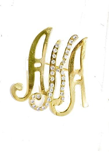 Amazoncom Alpha Kappa Alpha Gold Crystal AKA BroochPin Jewelry